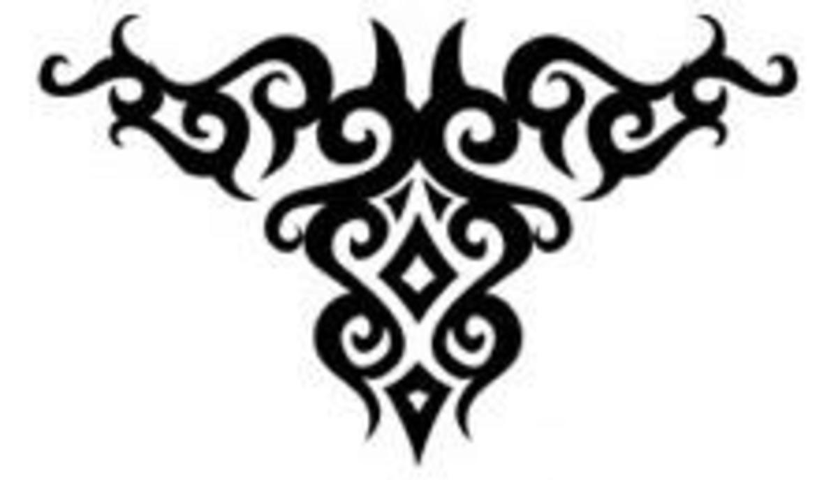 Abstract Goat Head - Tribal Tattoo