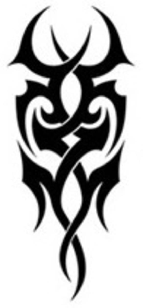 Vertical Mask - Tribal Tattoo