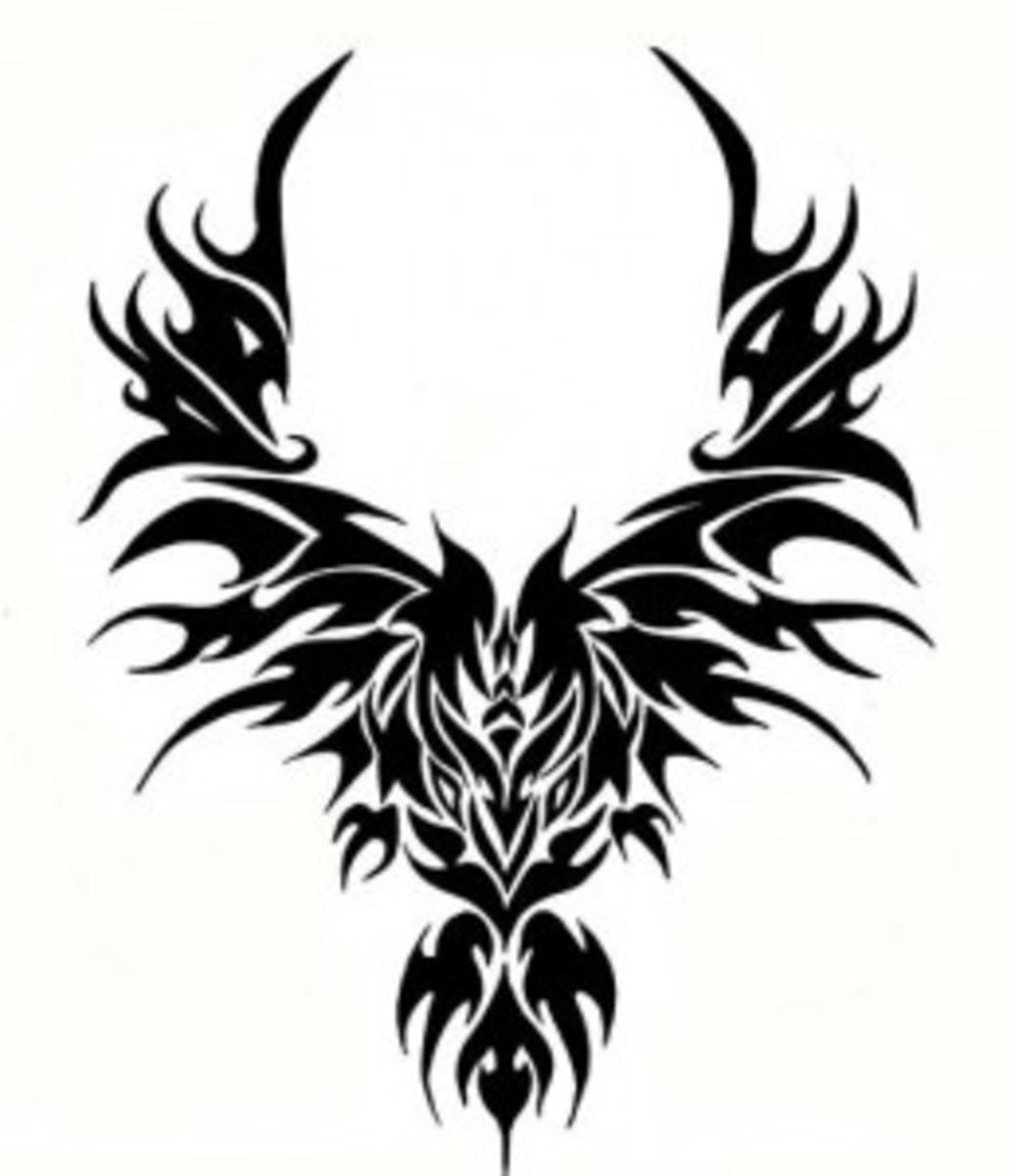 Fiery Phoenix - Tribal Tattoo