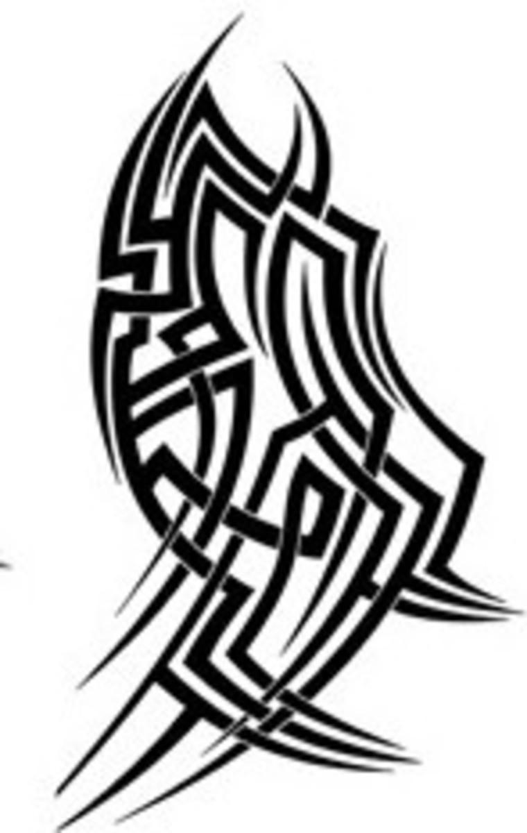 Bicep Cuff Shield - Tribal Tattoo