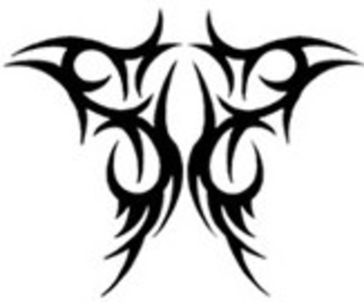 Inverted Angel Wings - Tribal Tattoo