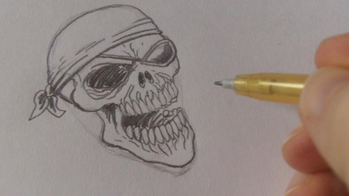 Define and darken other pencil lines