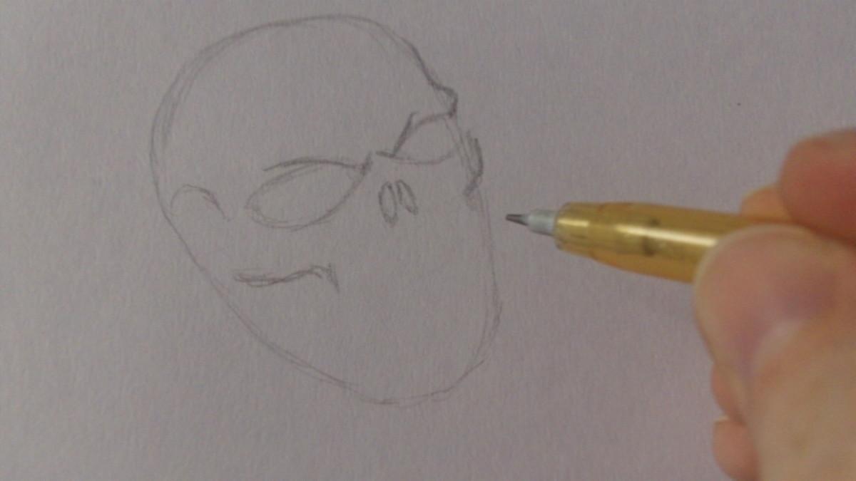 Mark in the cheek bones, nose holes