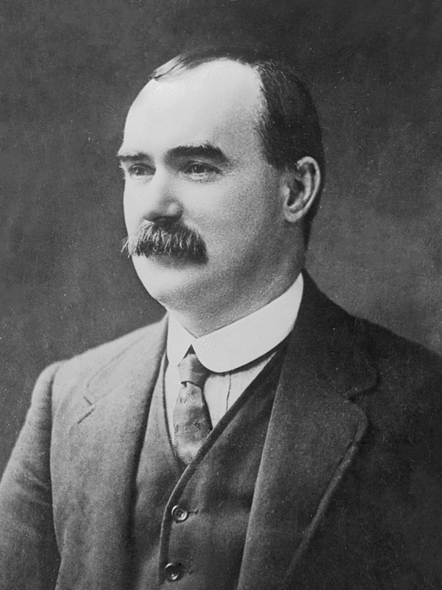 James Connolly was the Leader of The Irish Citizen Army during The 1916 Easter Rising.