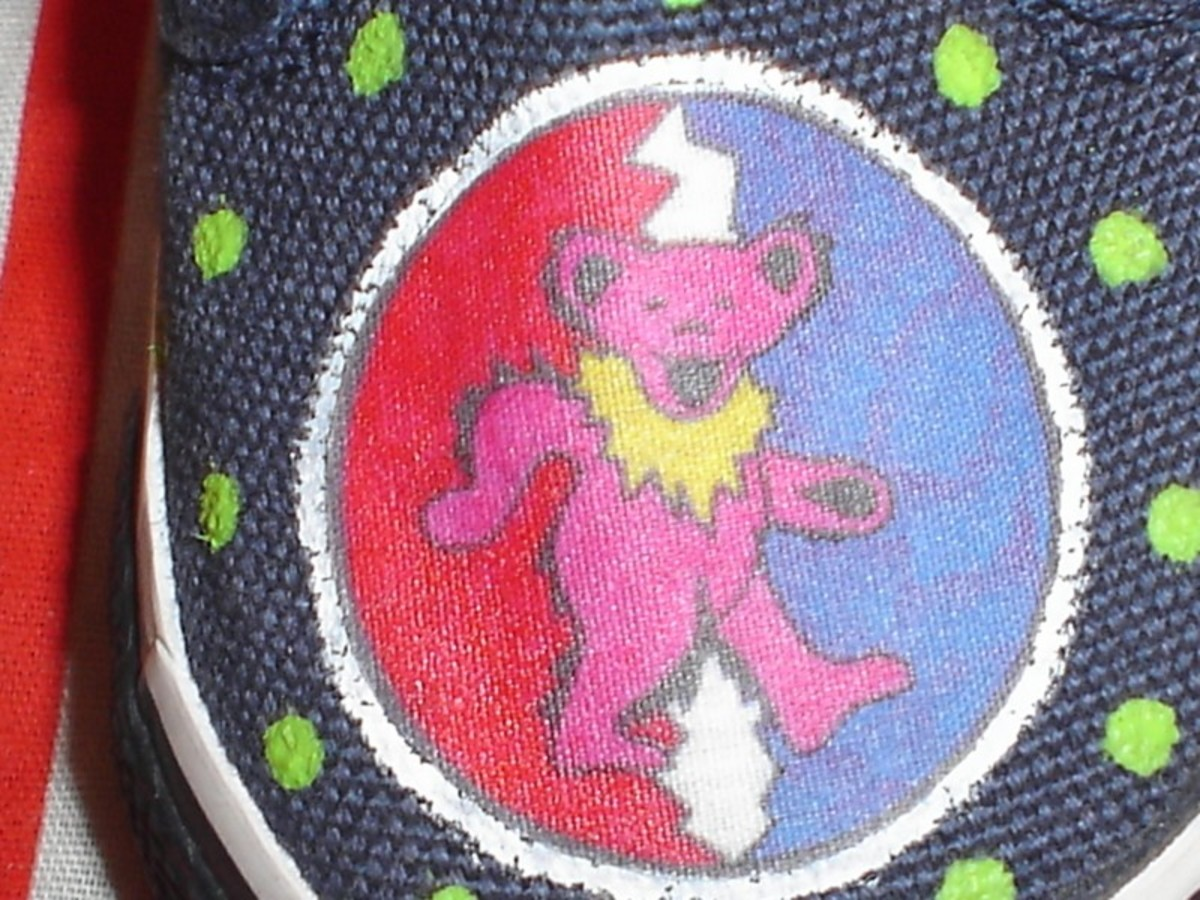Close-up of the fabric / transfer image