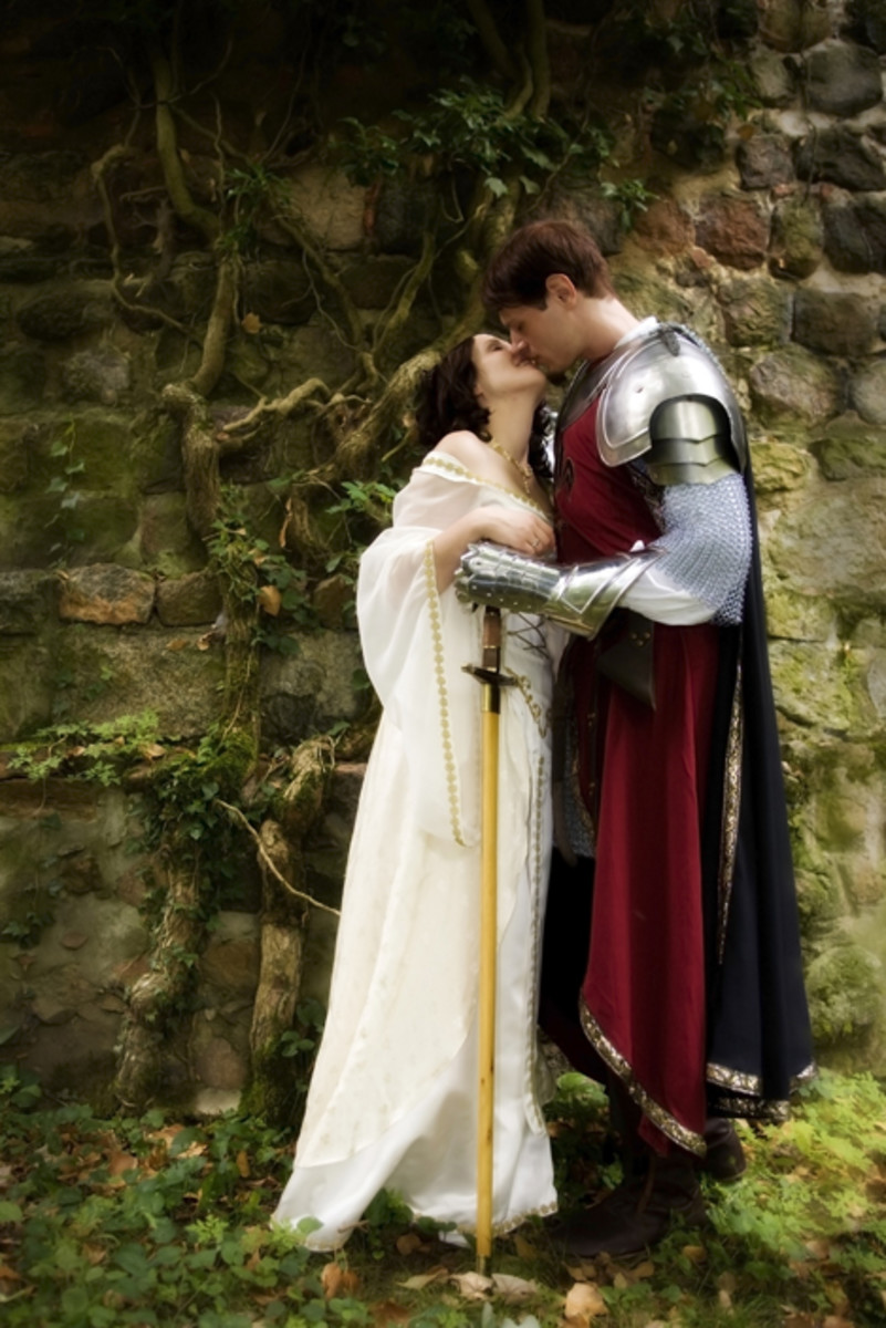 Medieval themed wedding outfits