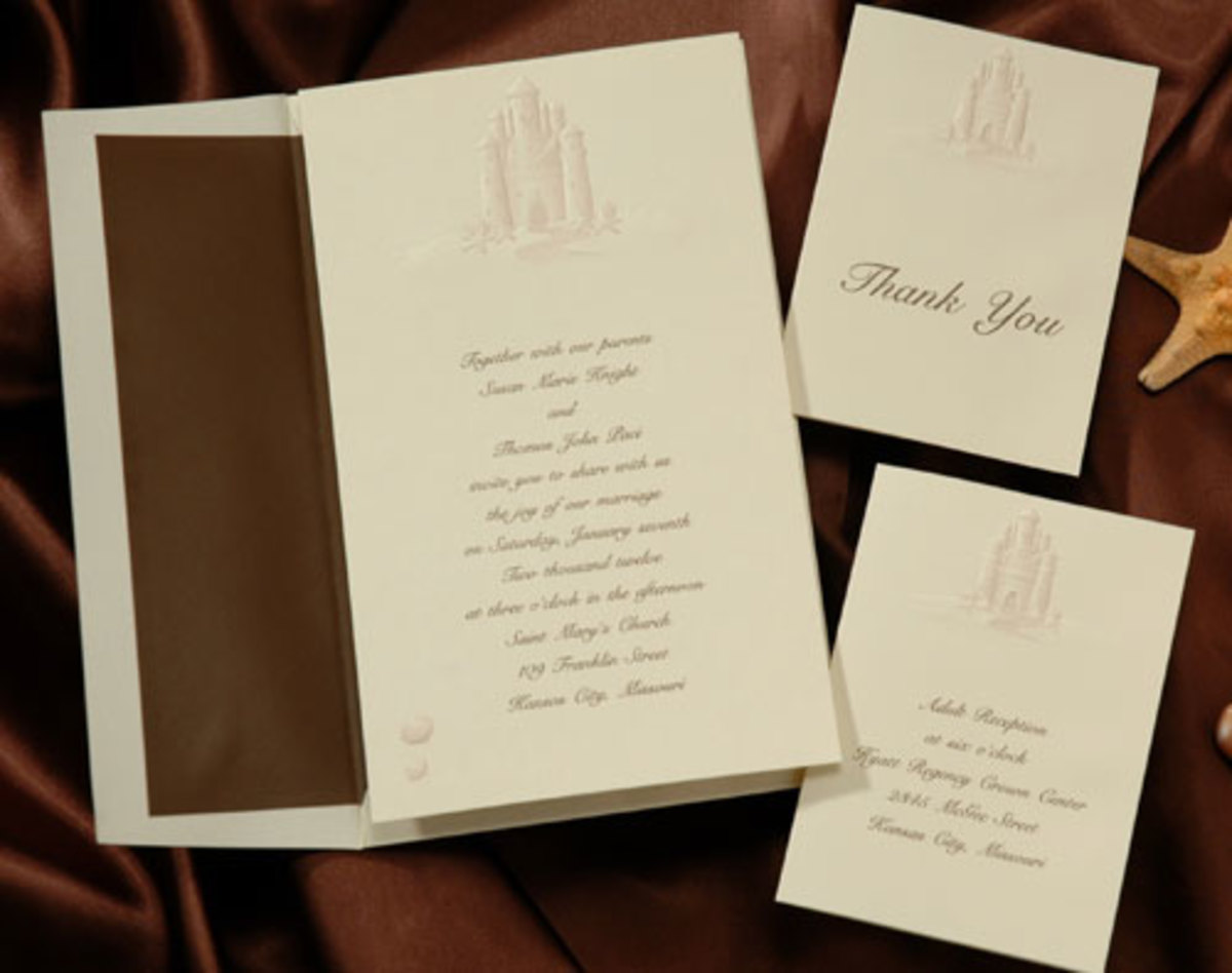 Castle wedding invitation