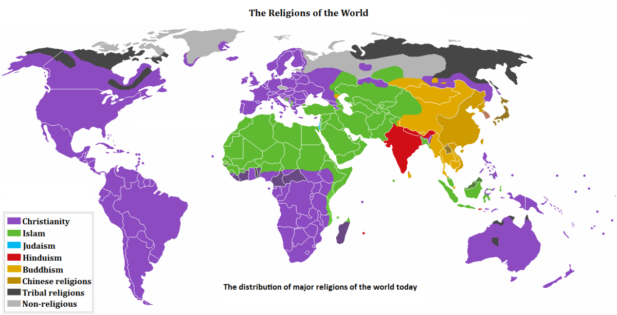 The Major Religions Of The World HubPages - World's largest religions in order