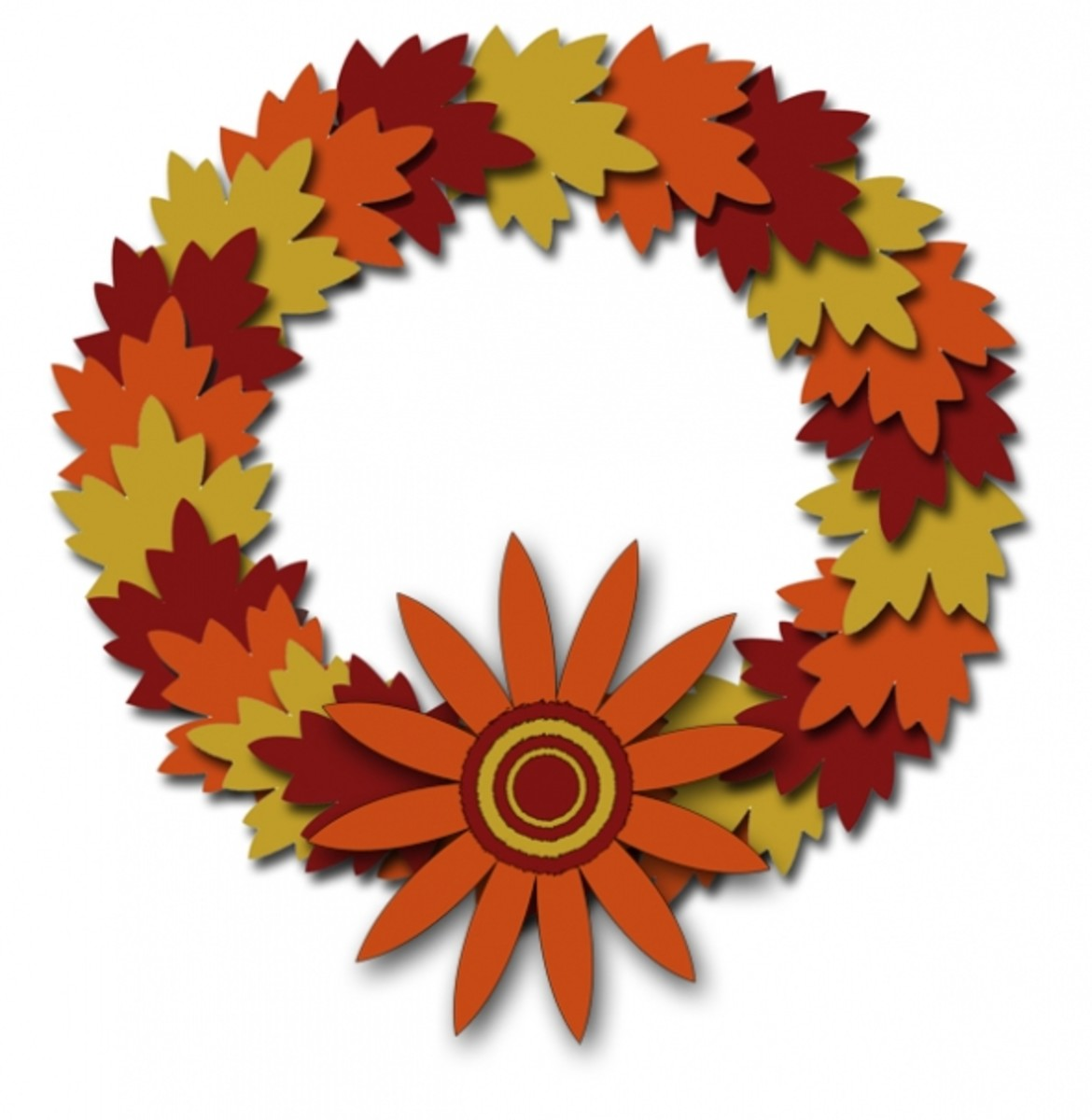 Harvest season wreath graphic.