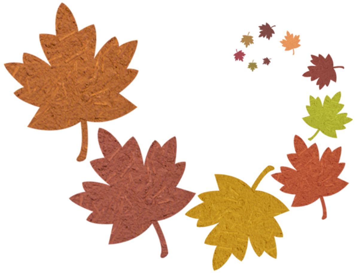 Fall Clip Art Swirly Leaves