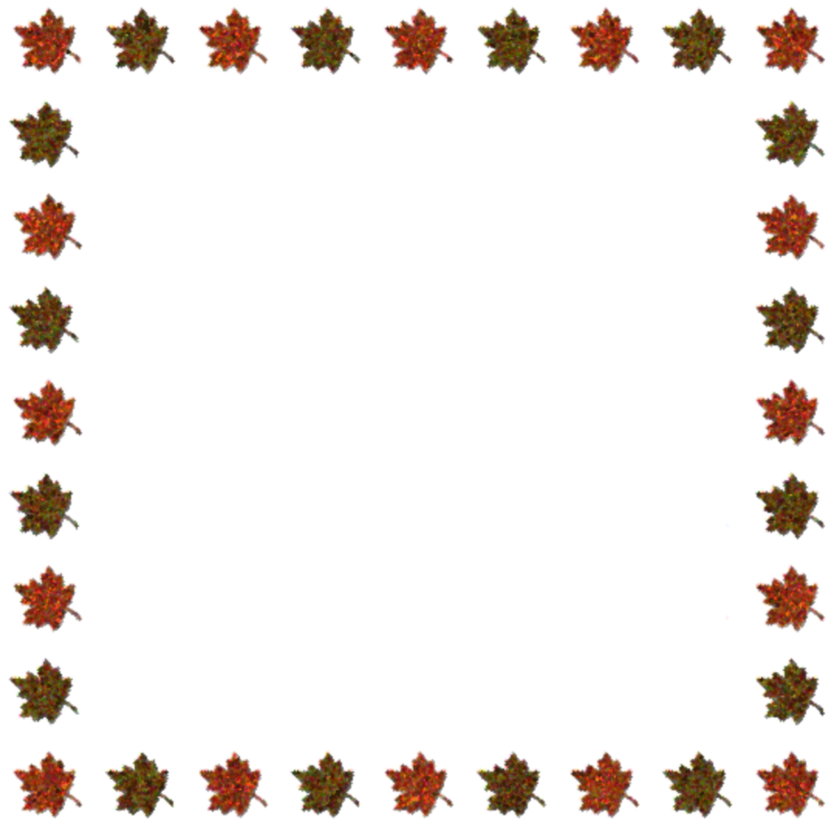 Fall Leaves Clpart Frame Free