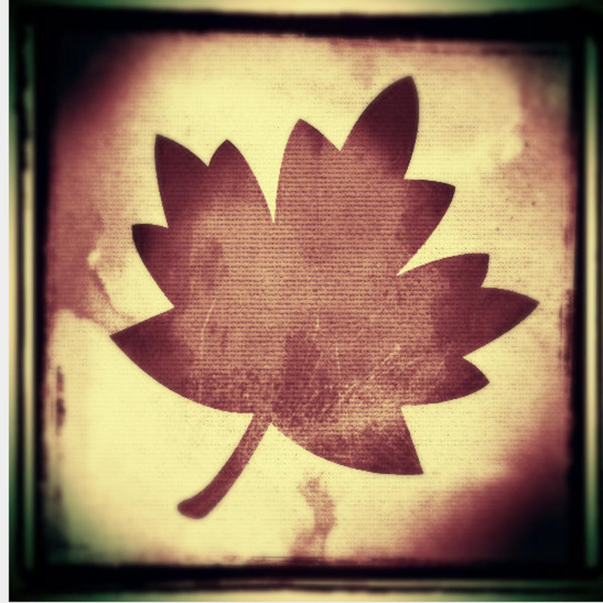 Grungy  leaf clip art 3.