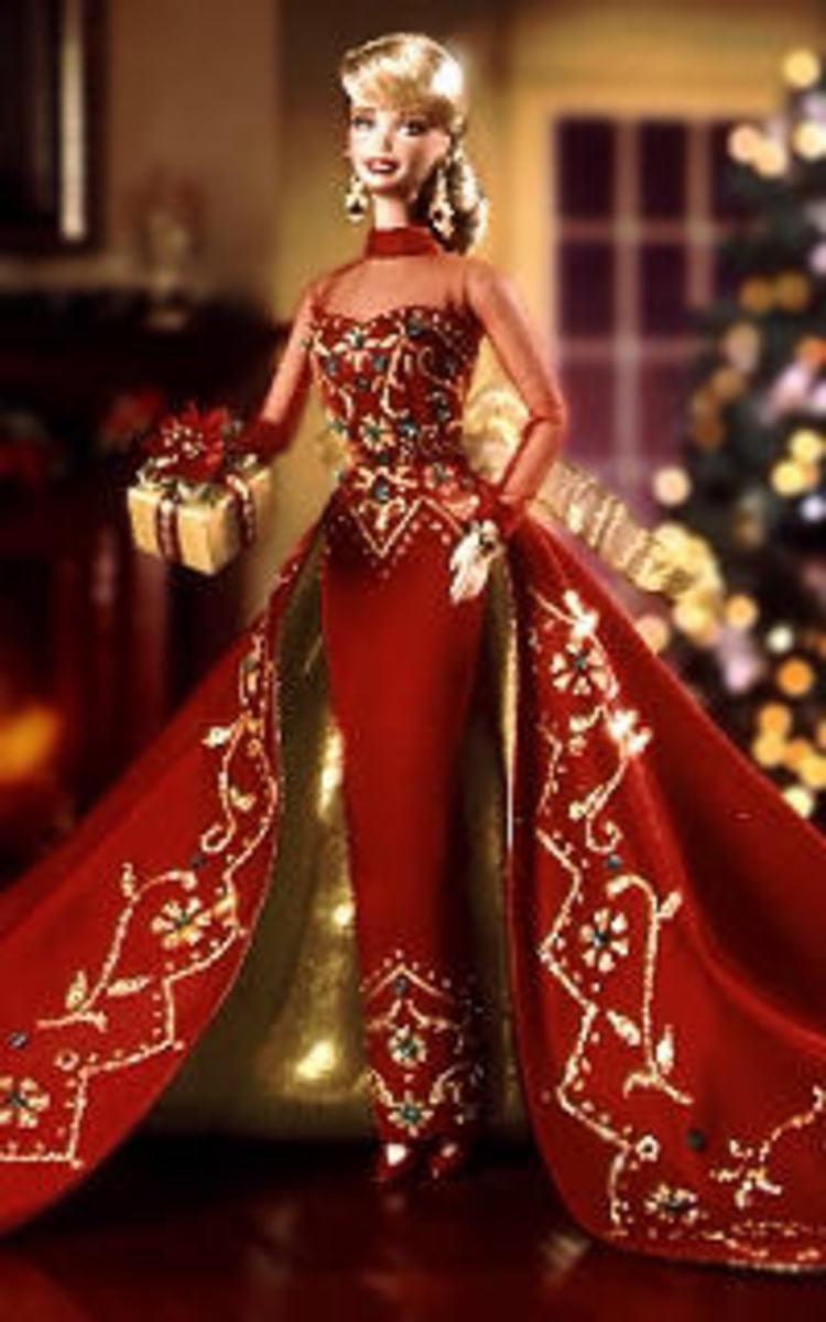 1998  Happy Holiday Porcelain Barbie