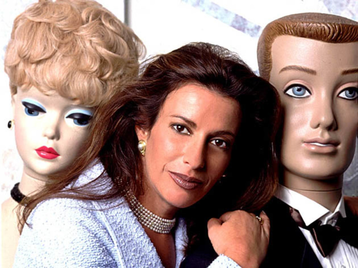 Jill Barad with Barbie and Ken