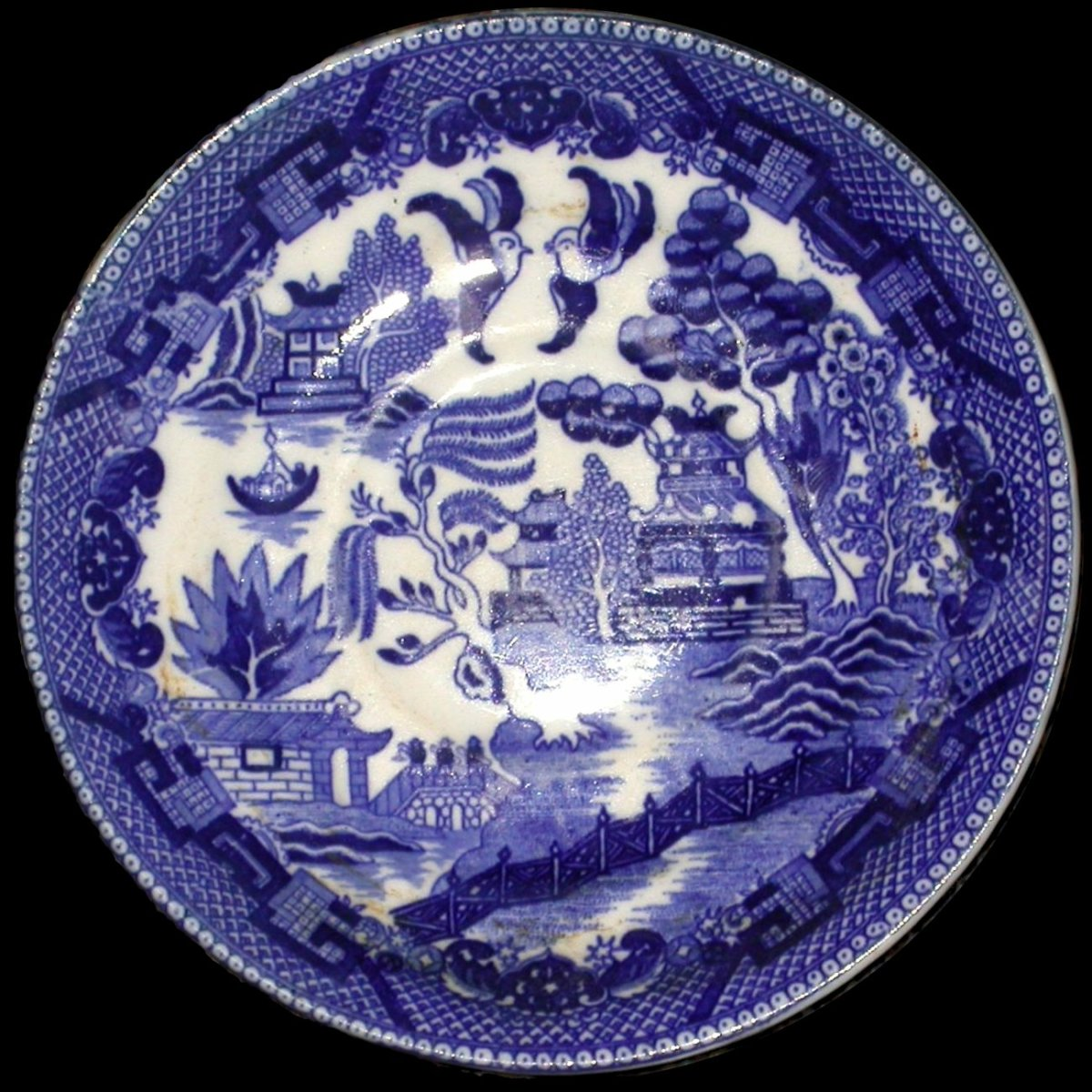 A Blue Willow Plate Image Credit: The Wikipedia