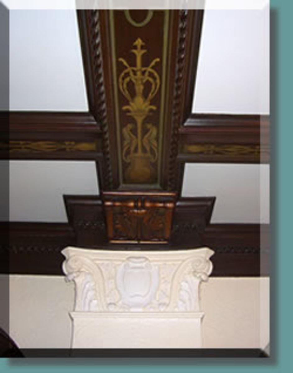 Hand Painted Wood Ceiling Beams