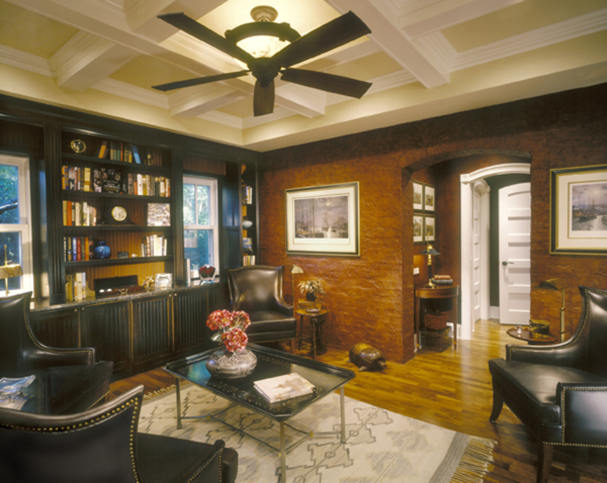 Painted White Wood Ceiling Idea