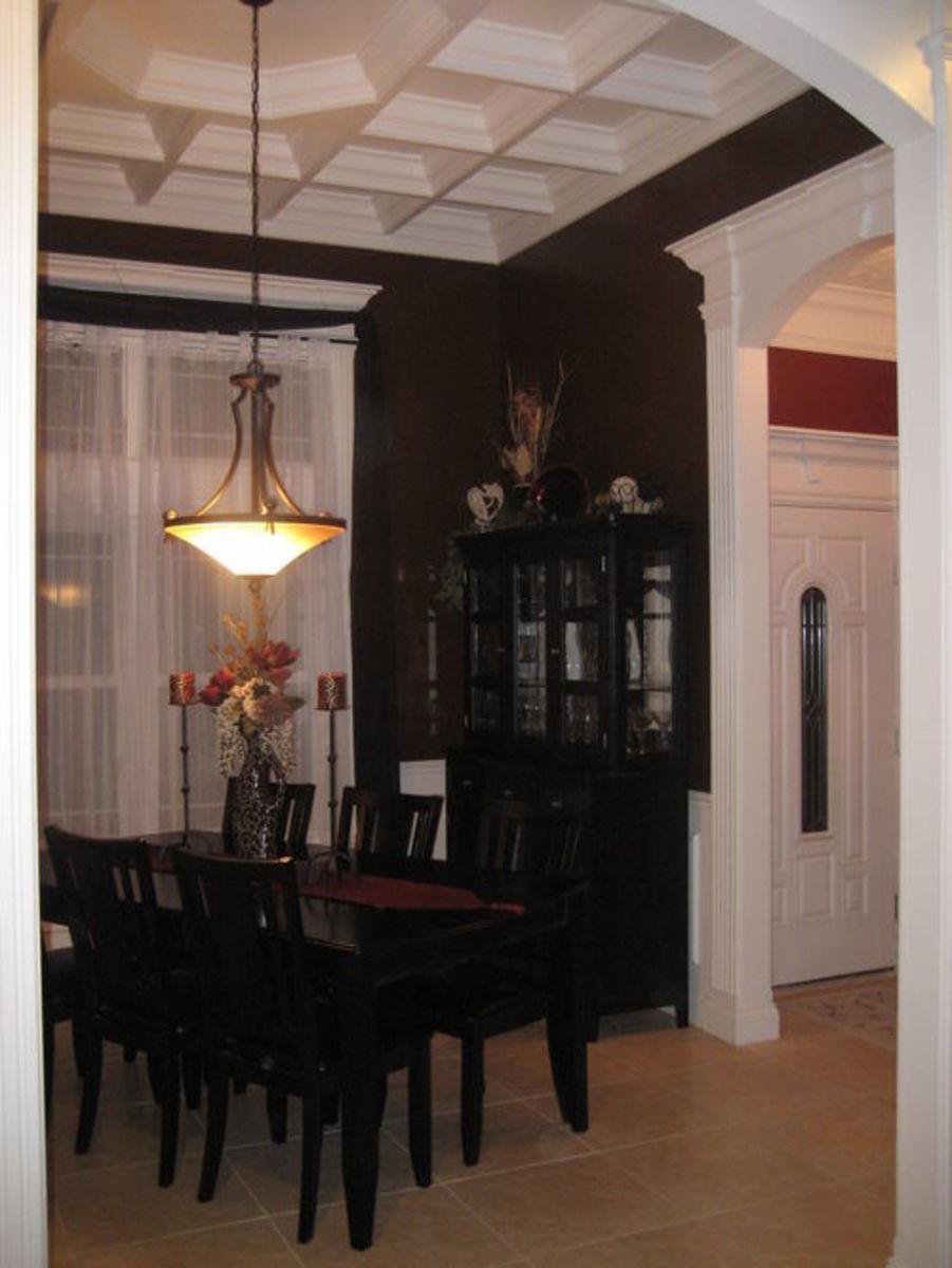 Painted White Wood Ceiling Design Idea