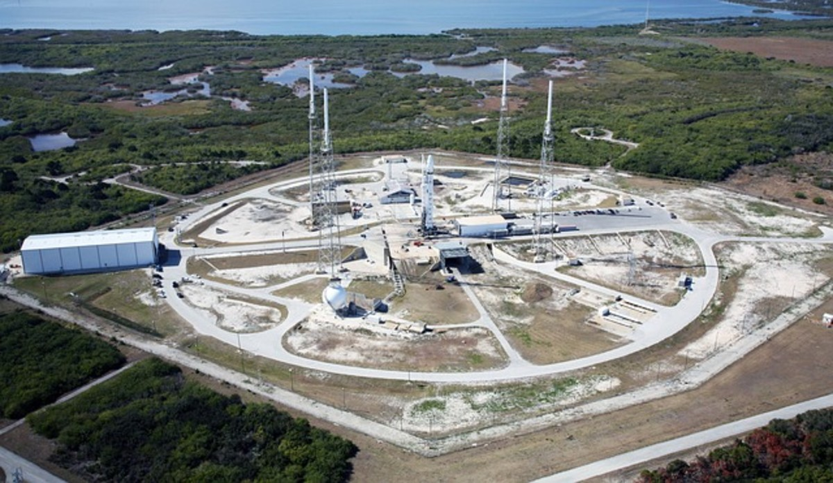 One of the most-used launch pads in America - Cape Canaveral.