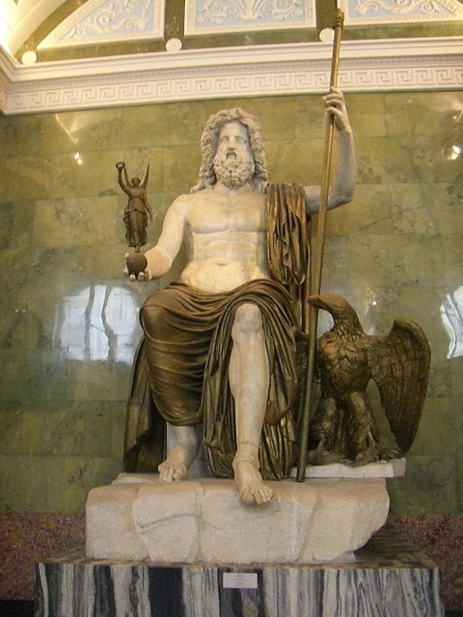 Sculpture of Zues