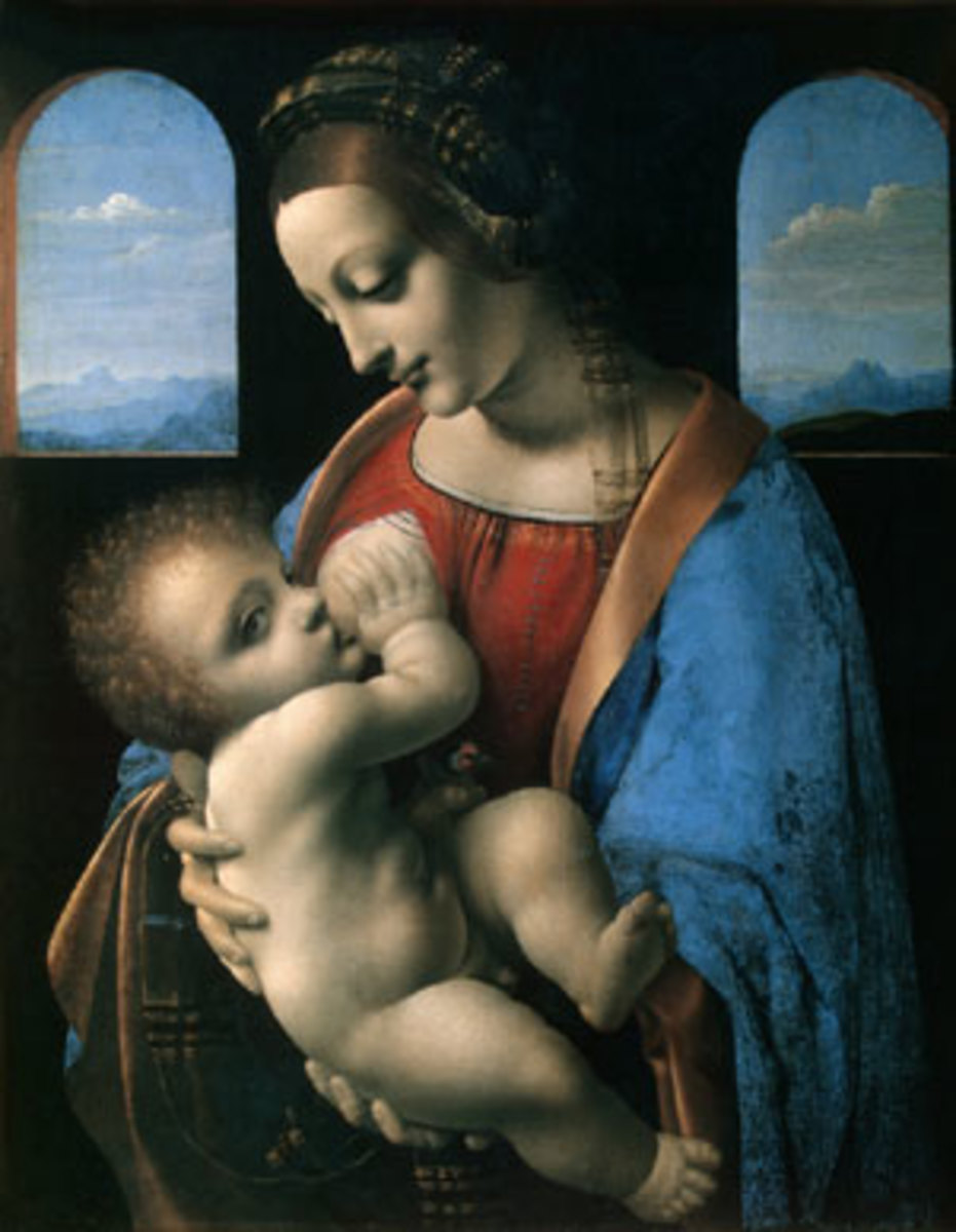 Madonna and Child      (Leonardo Da Vinci)