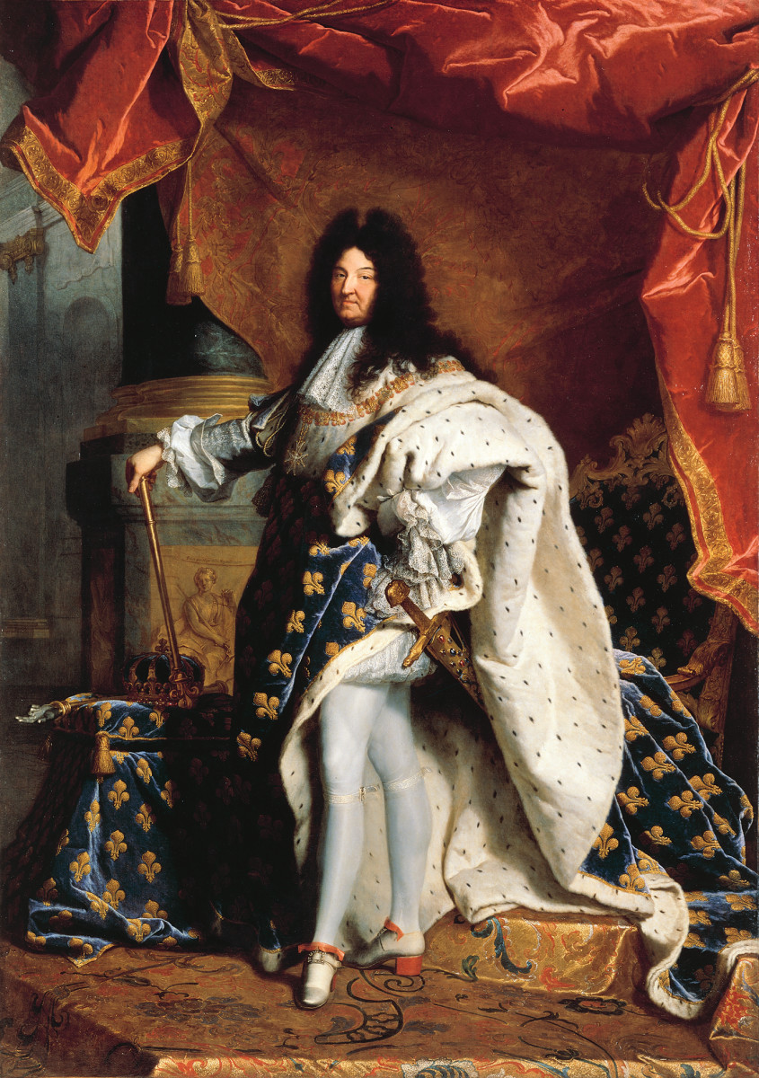 THE SUN KING LOUIS XIV (PAINTING BY HYACINTHE RIGAUD, 1701)