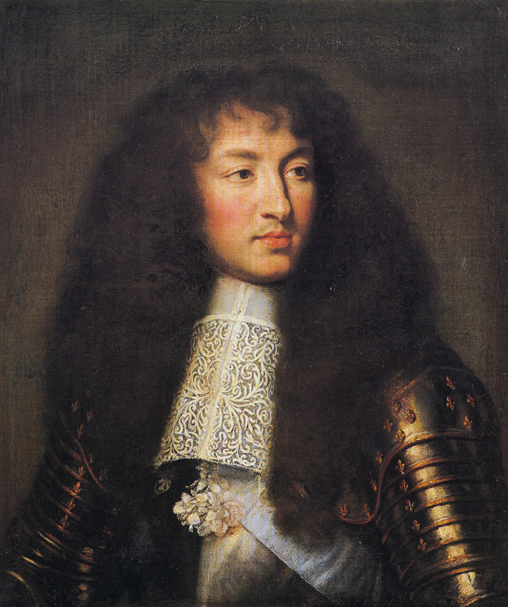 THE YOUNG SUN KING LOUIS XIV (PAINTING BY CHARLES LE BRUN, 1661)