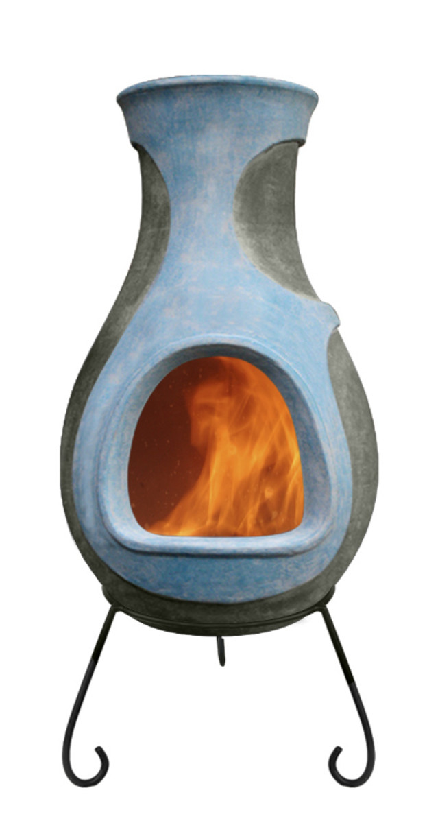 Modern variety of clay chiminea