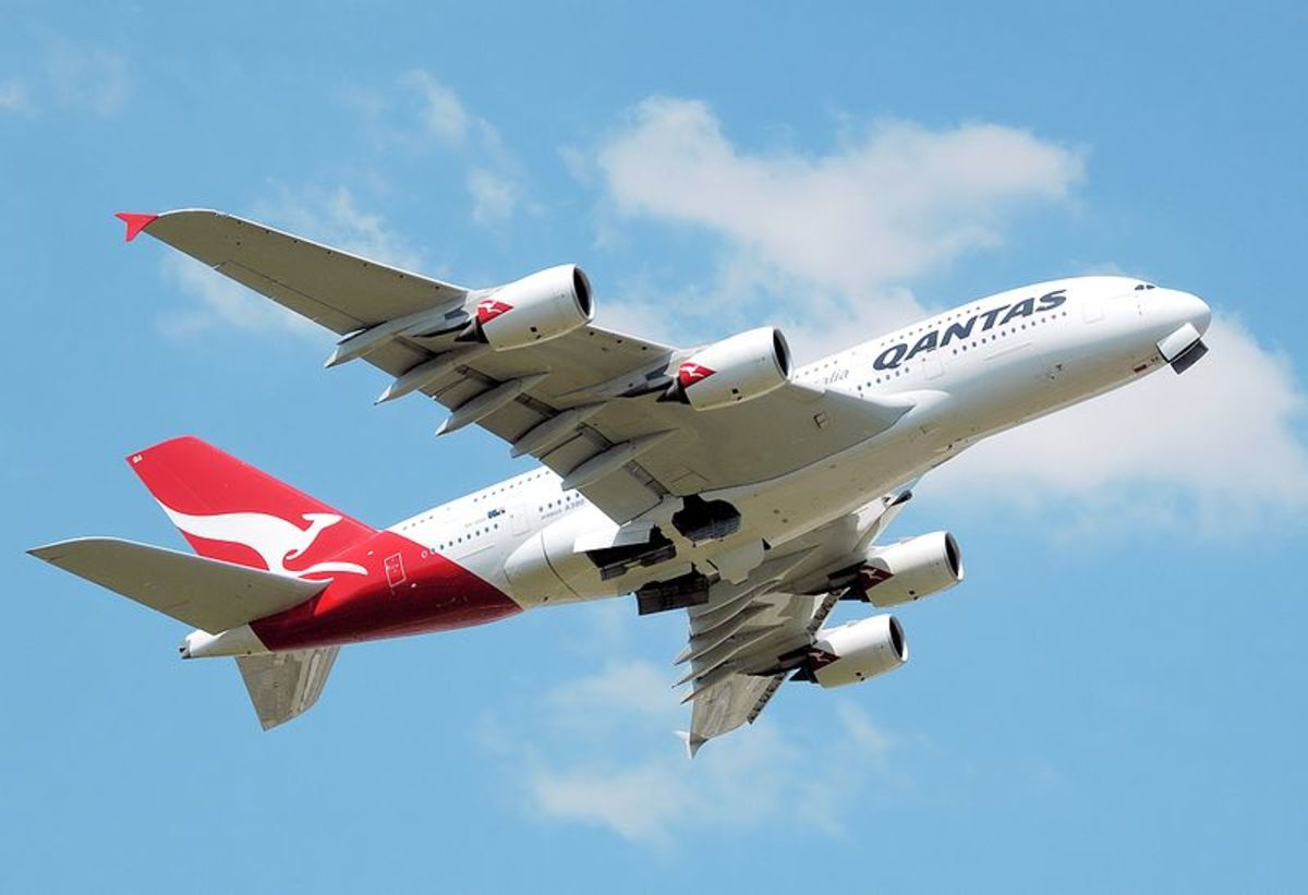 Airbus A380, the largest plane in the world.