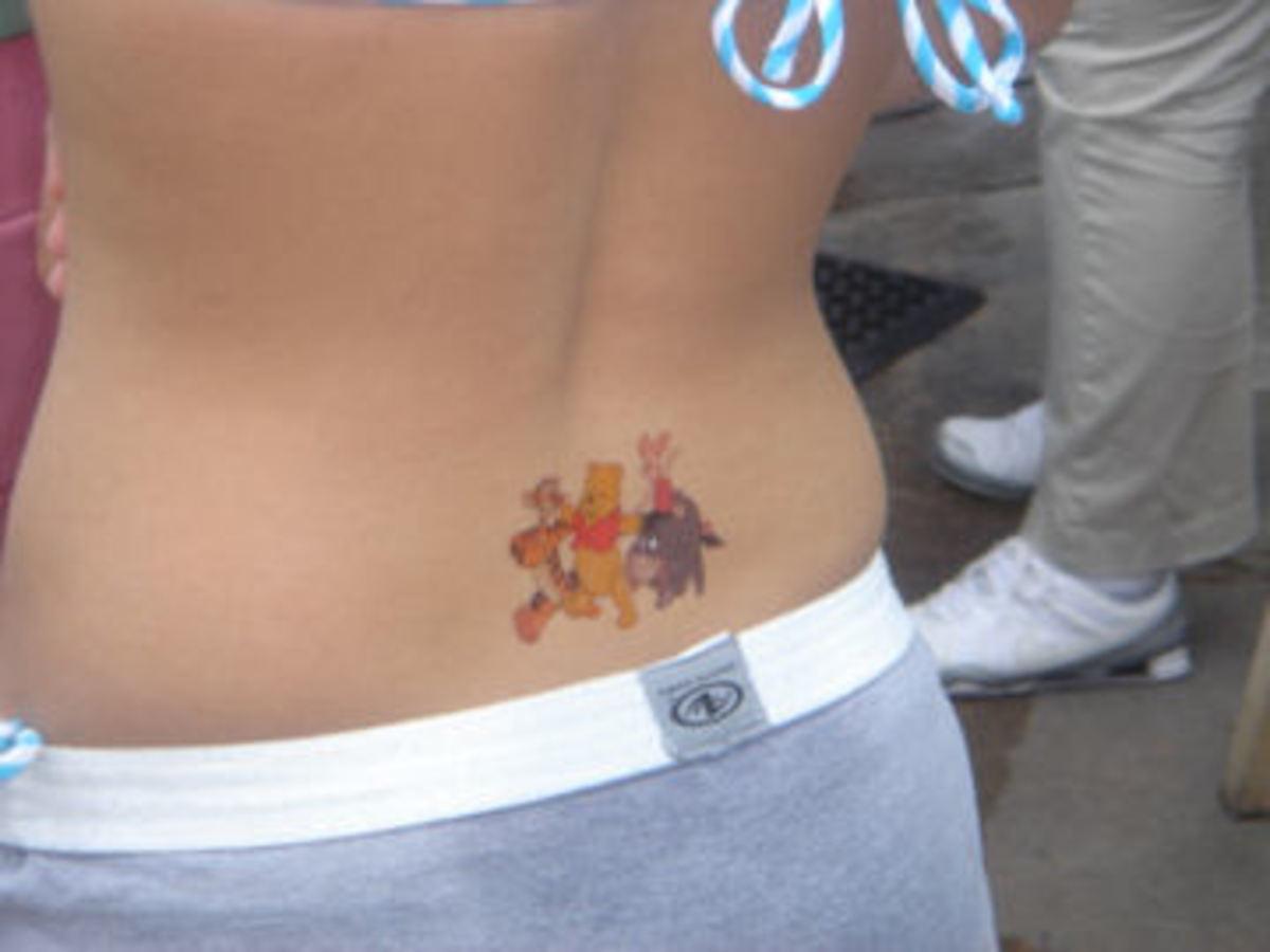 Ewww, she's got poo on her back!