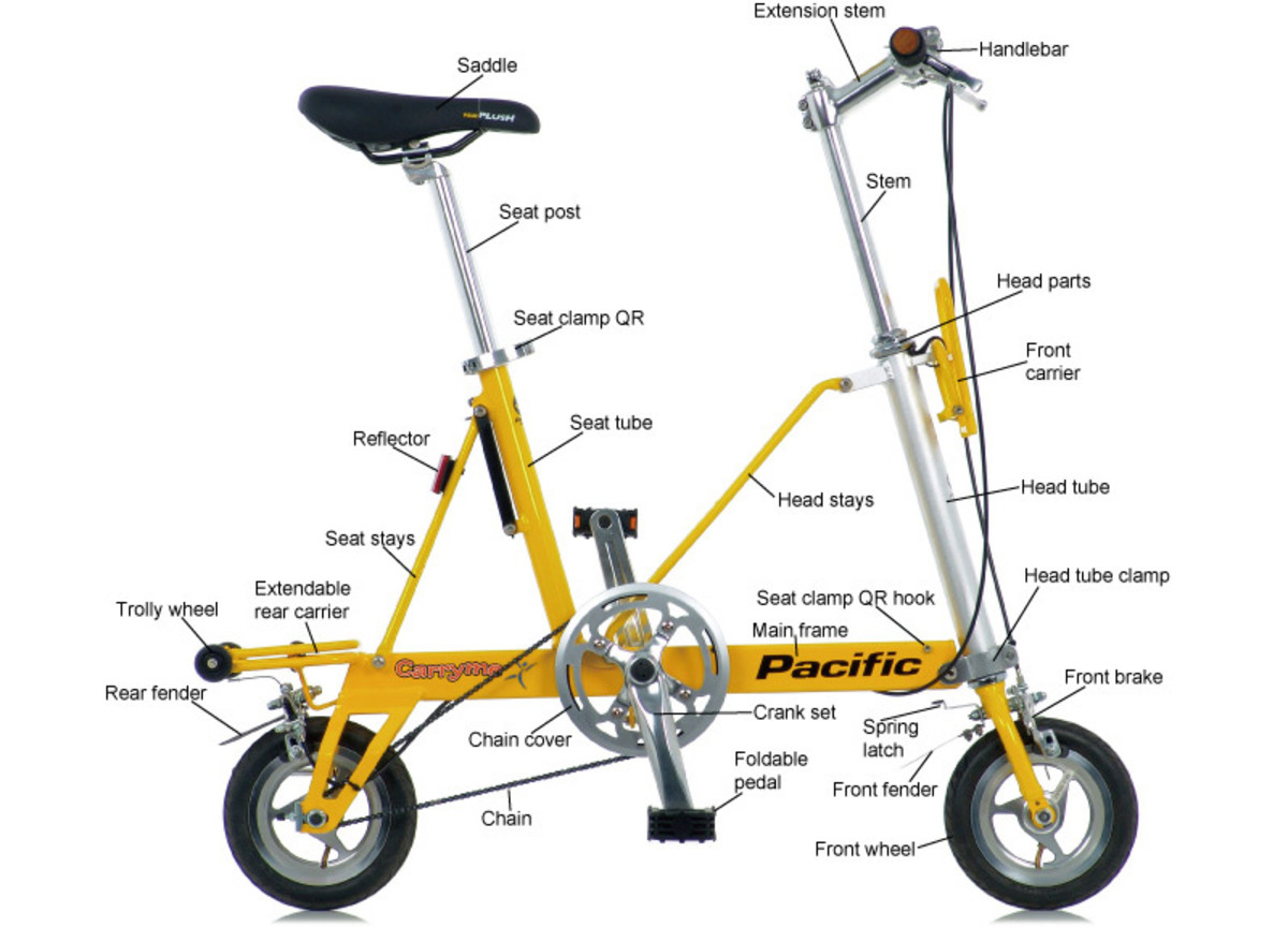 Pasific Cary-me folding bike.