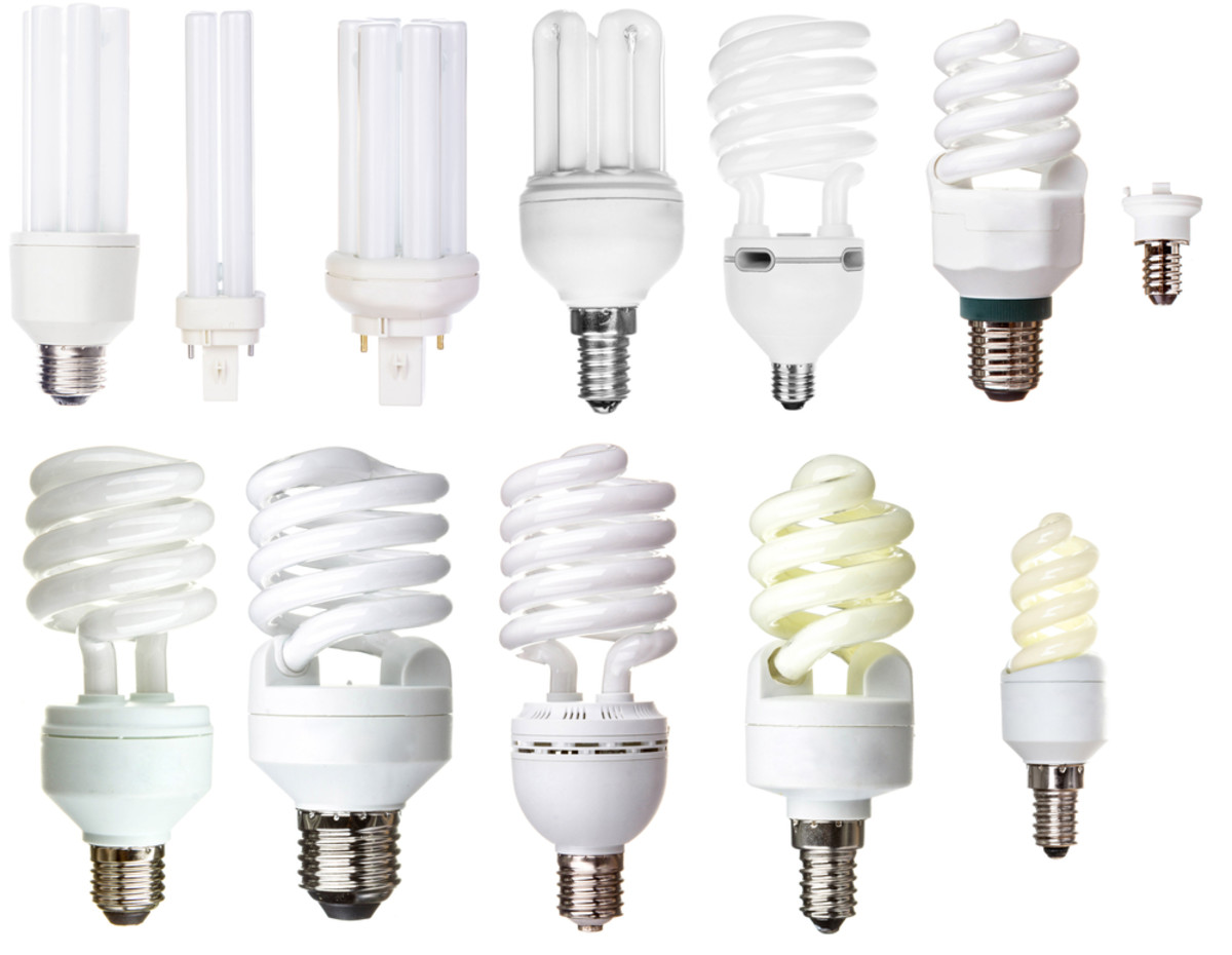 CFL's comes with different shapes and sizes