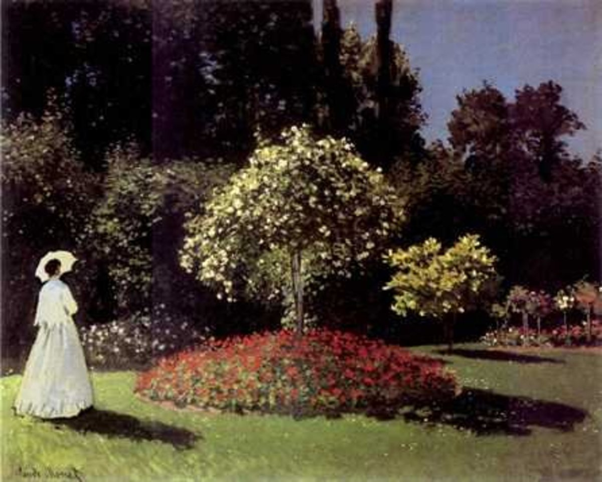 The Lady in The Garden (My favorite Monet painting).    (Claude Monet)