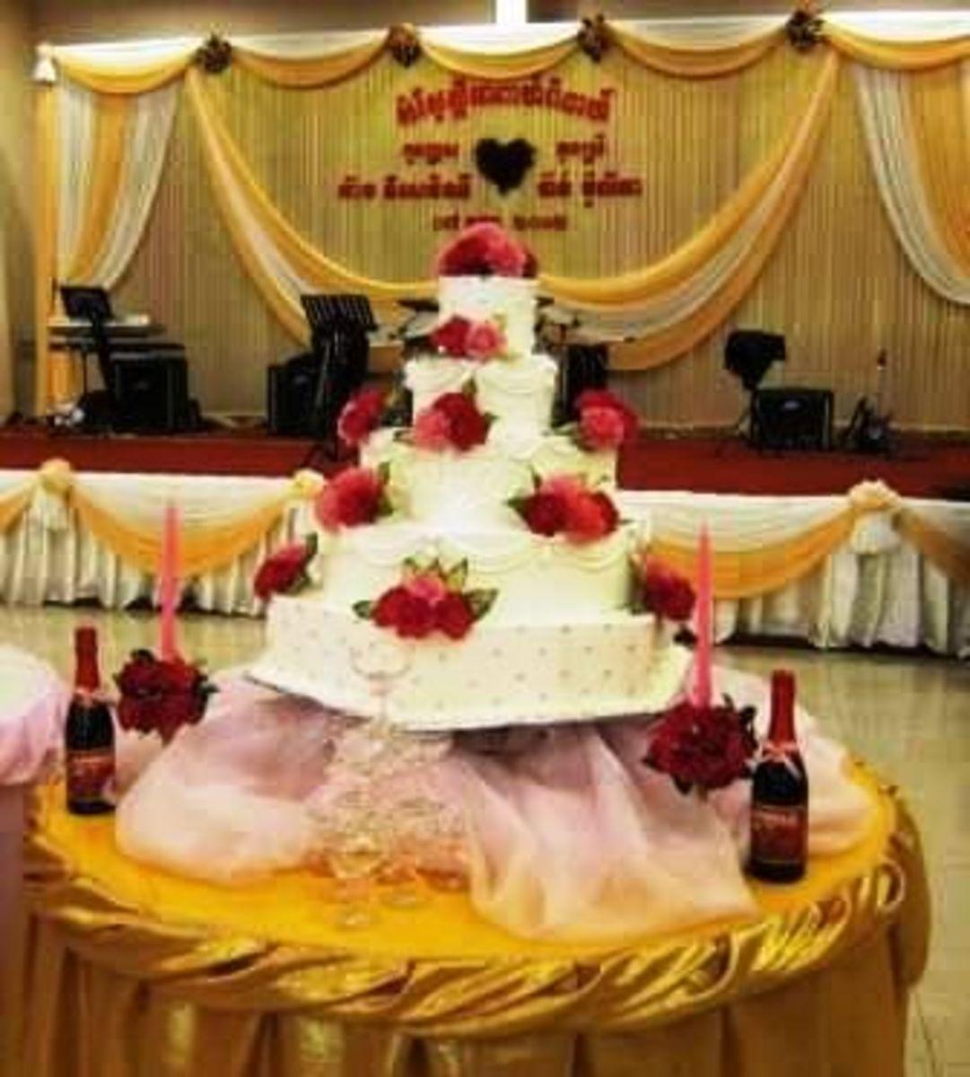 Wedding Cake at Khmer Wedding