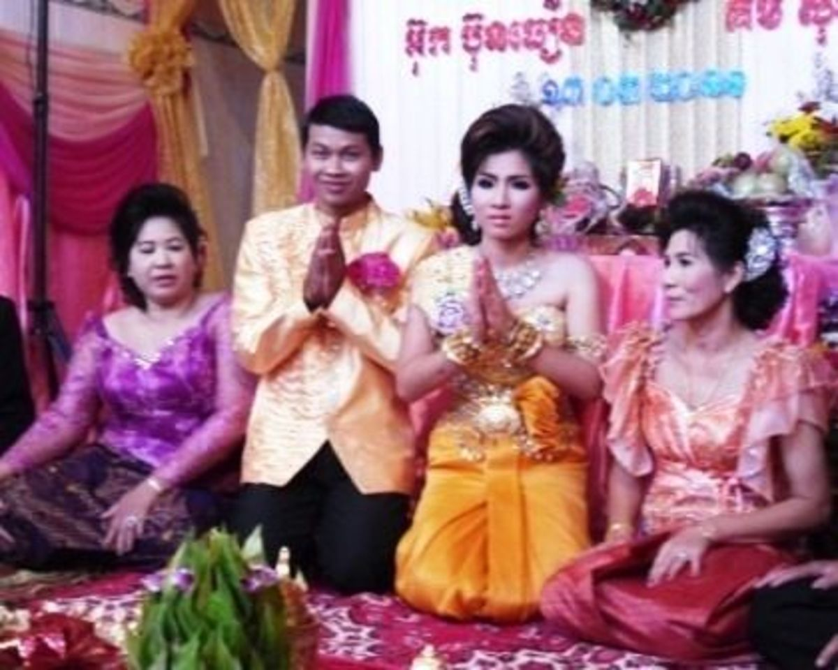 Asking for Blessing from Ancestor Spirit in a Khmer Wedding