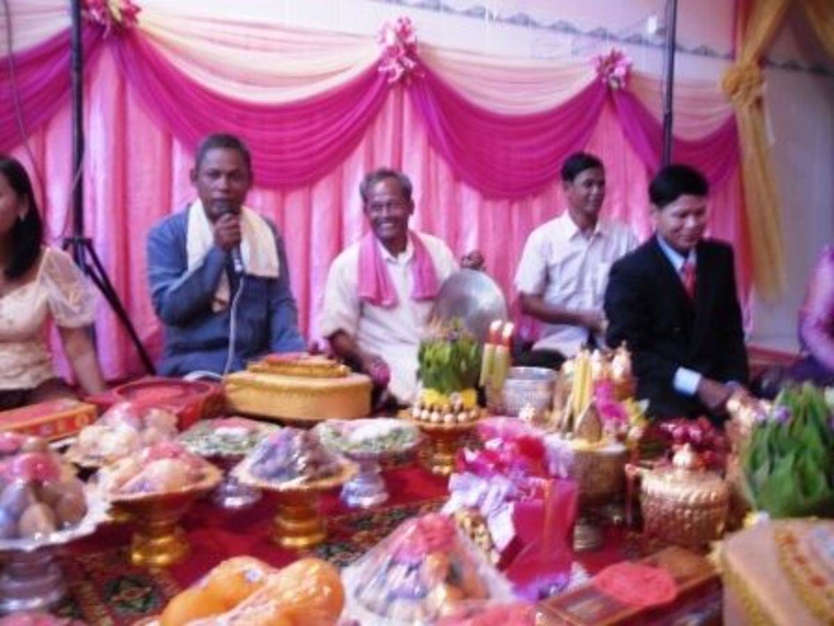 Blessing from the Community for the Khmer Bride and Groom