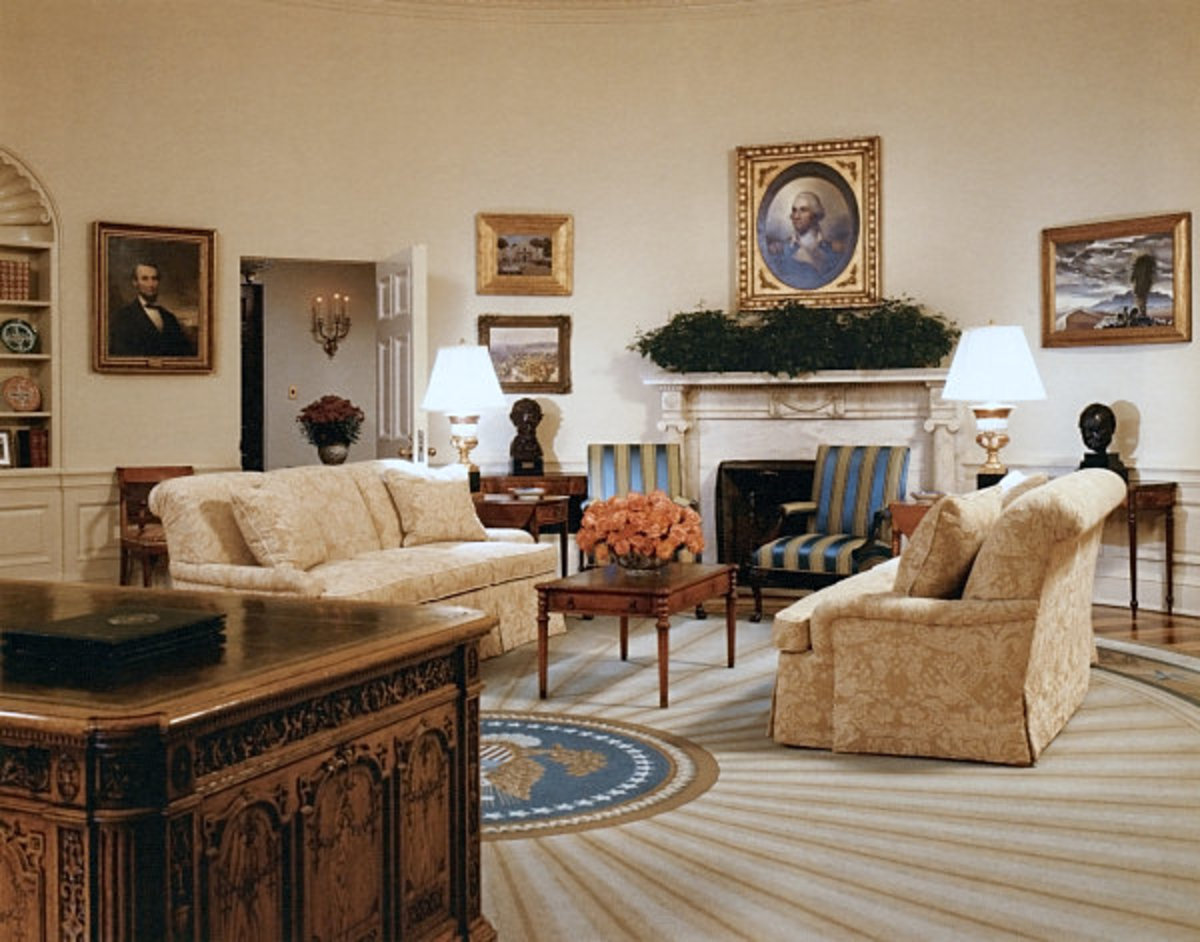 In The George W Bush Oval Office Makeover And D 233 Cor
