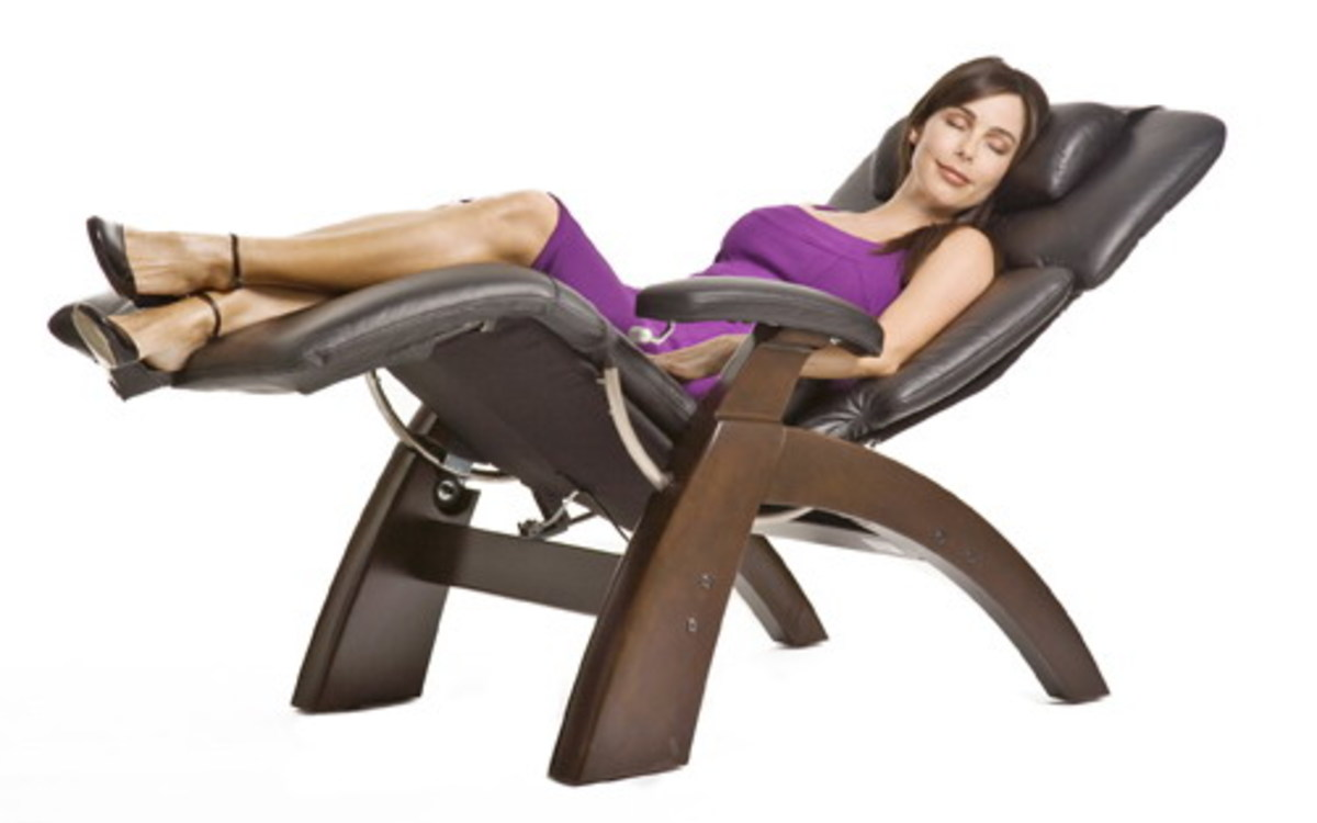 Woman resting on an anti gravity chair