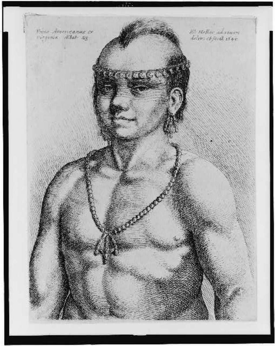 This would have been the appearance of a typical Algonquian brave that the Pilgrims would have seen. Not the hair that is close in design to the Iroquois classic Mohawk cut.