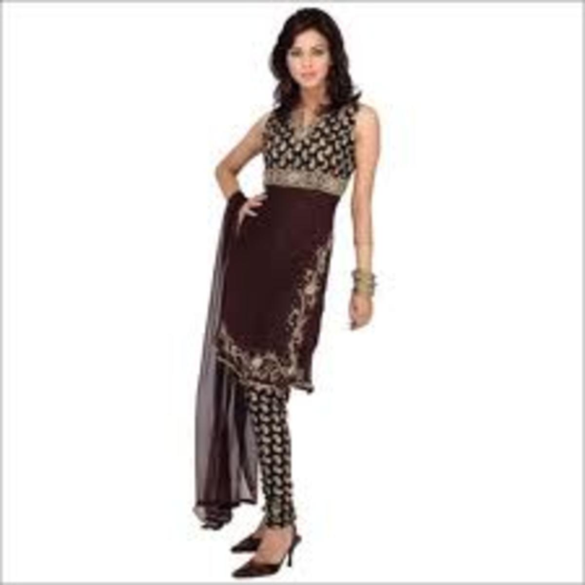Churidar (shalwar kameez with skinny pants)