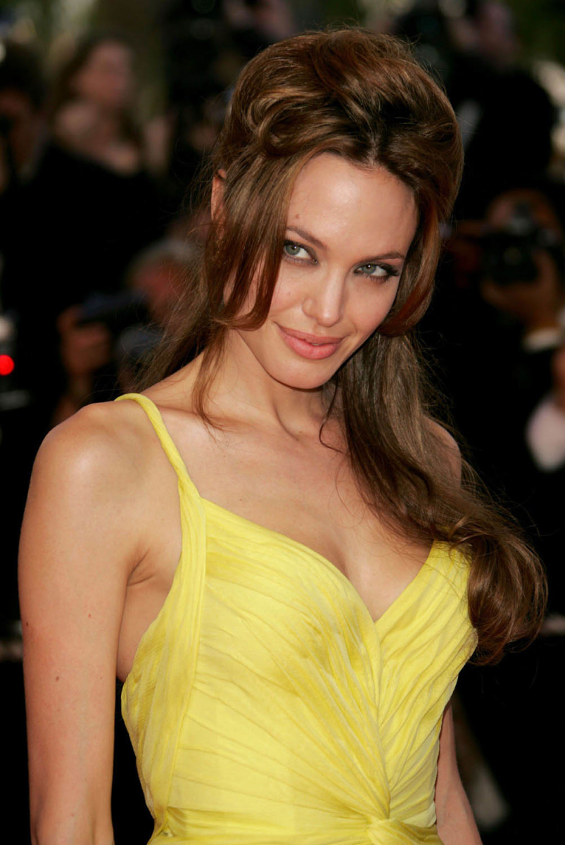 Angelina Jolie Hot Yellow Dress