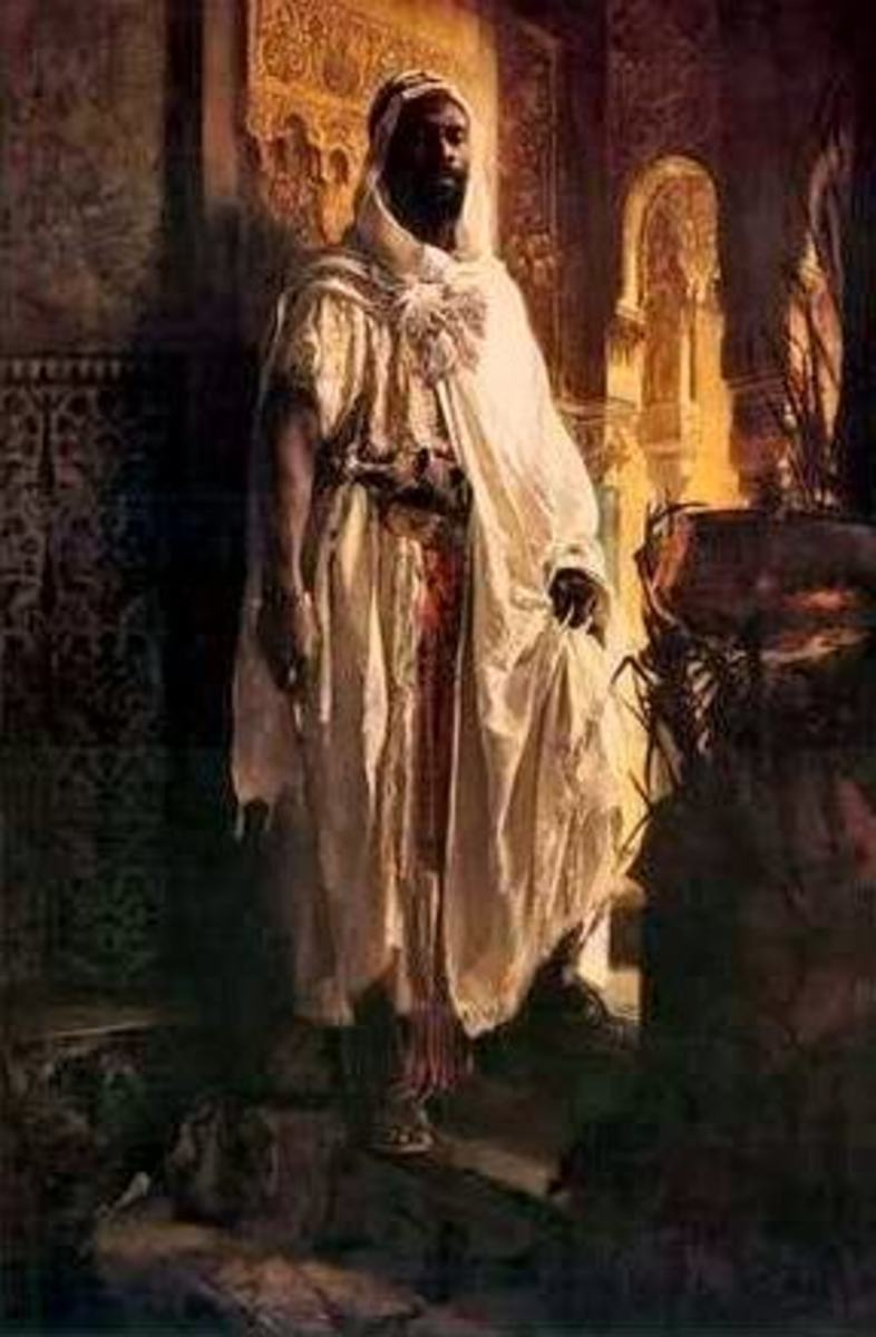 African Moors in Spain who introduced learning and civilization in Spain