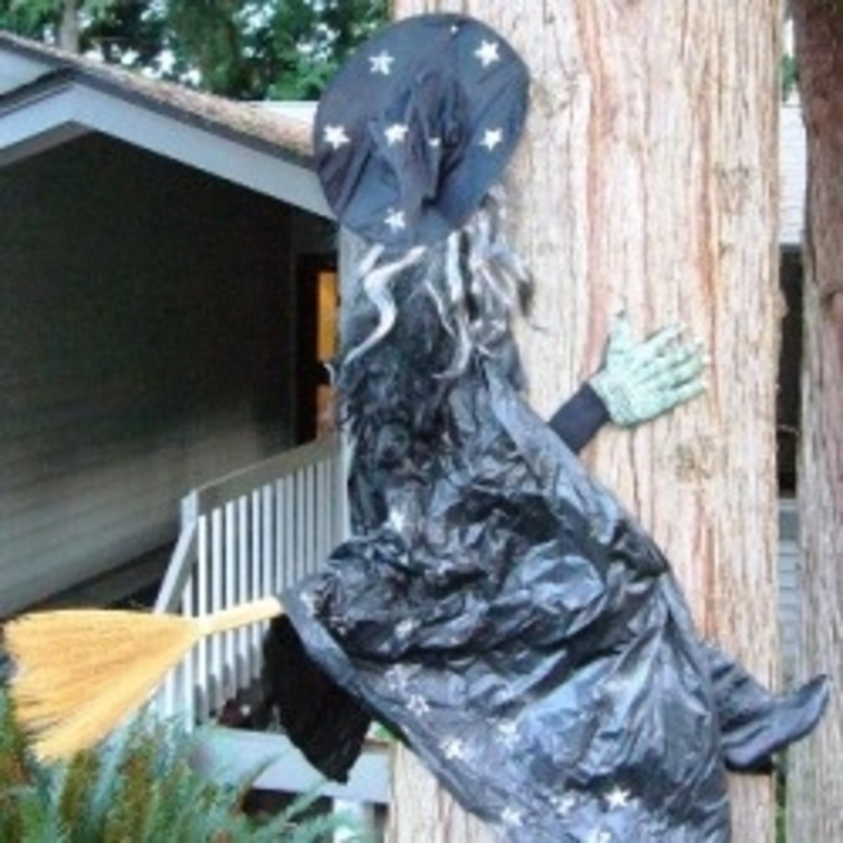 Crashed Witch Halloween Decoration
