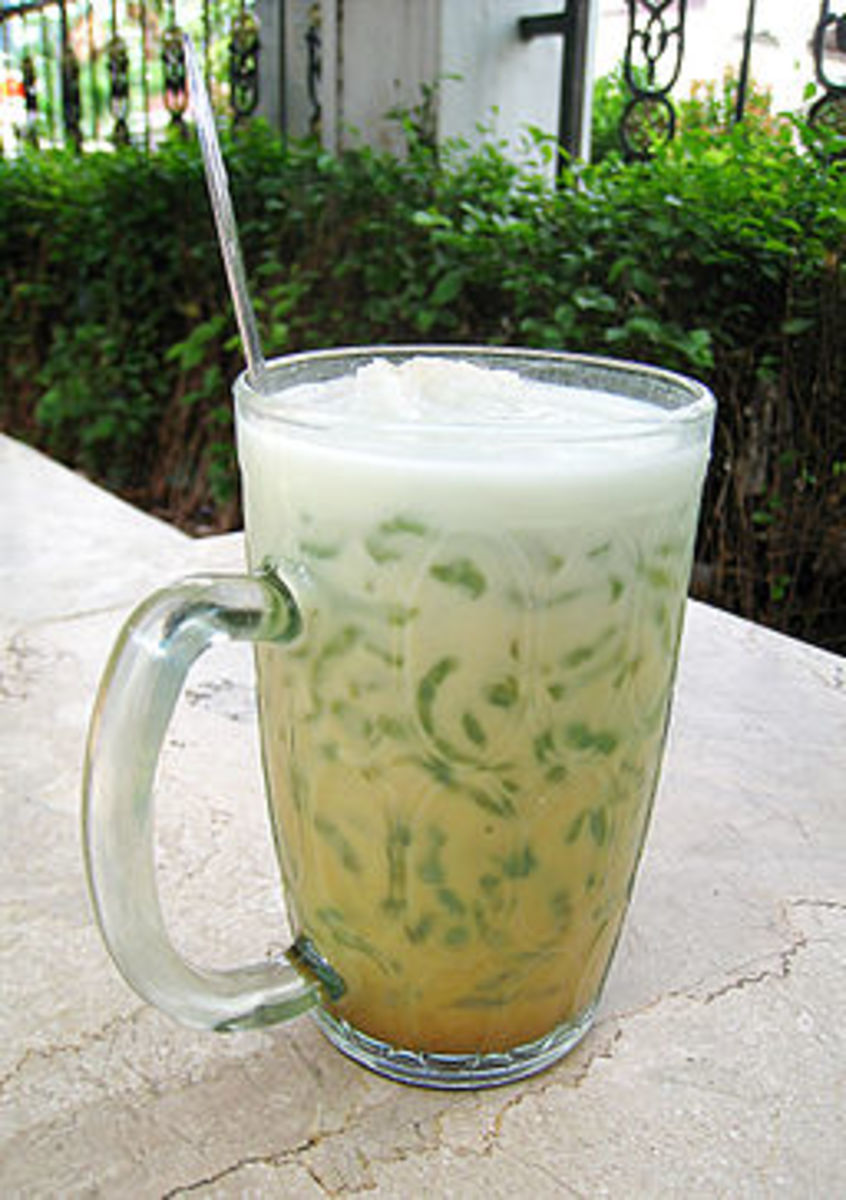 Cendol in a glass