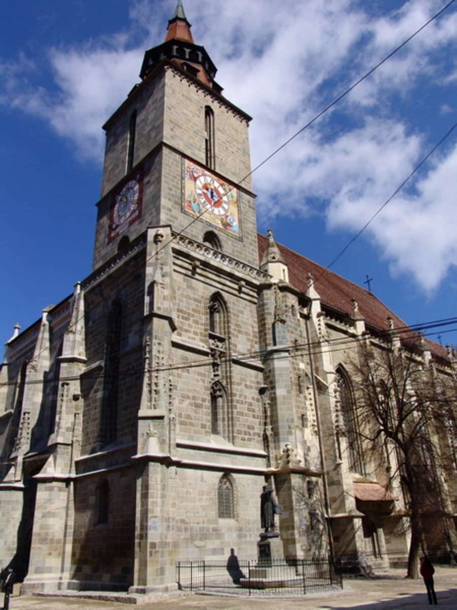 The Black Church, Brasov, Romania. Photo courtesy of Wikipedia.
