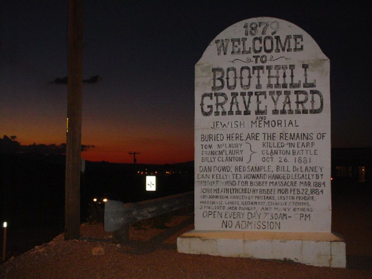 The Infamous Boot Hill Cemetery In Tombstone Arizona.