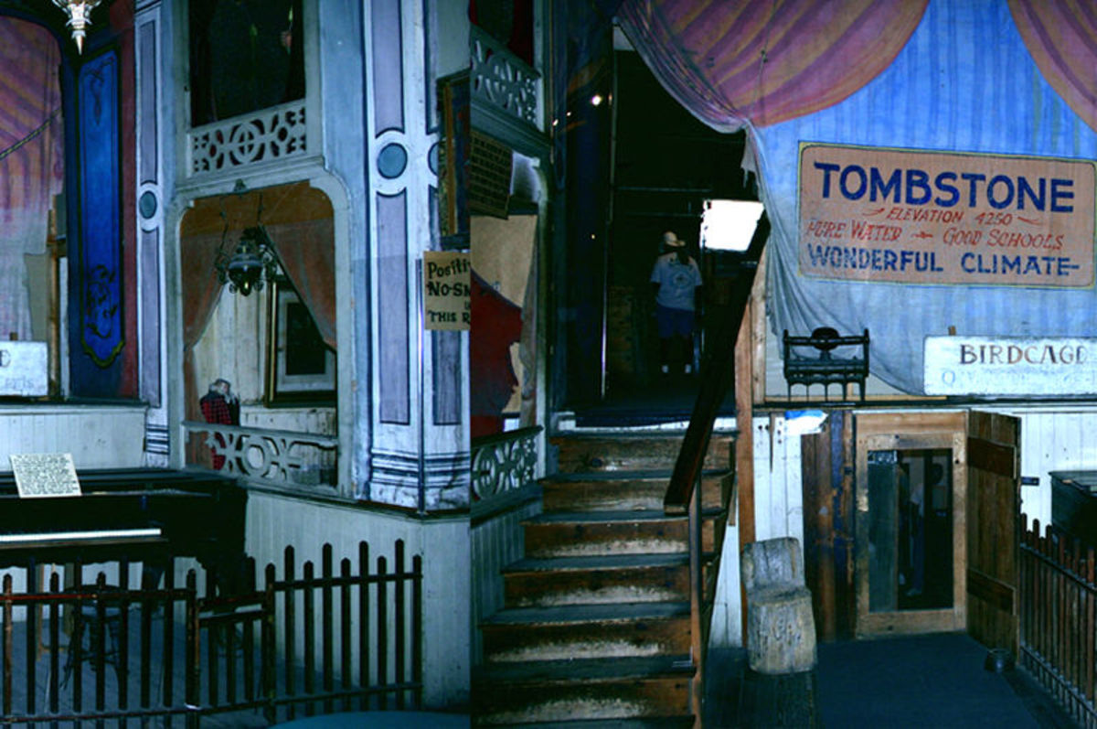 The Stage Of The Birdcage Theater In Tombstone Arizona.
