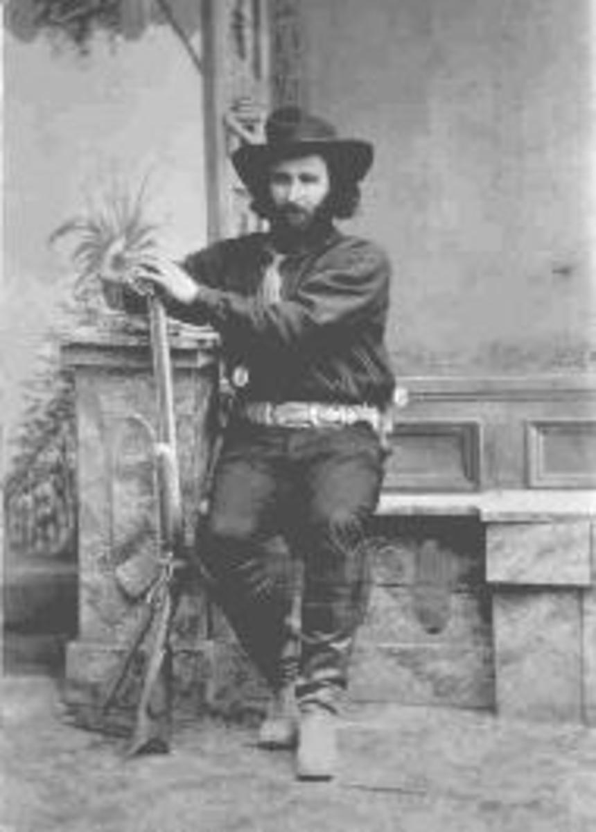 Ed Schieffelin in Tombstone in 1880. Schieffelin was the founder of Tombstone Arizona.