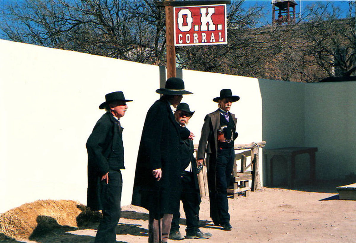 Daily reenactment of the famous fight at the O.K. Corral.