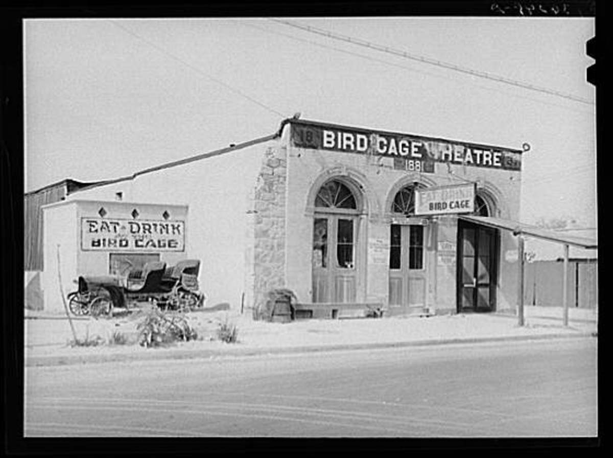 The Birdcage Theater In Tombstone Arizona about 1940